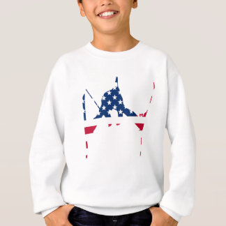 USA Flag of America Skiing American Sweatshirt