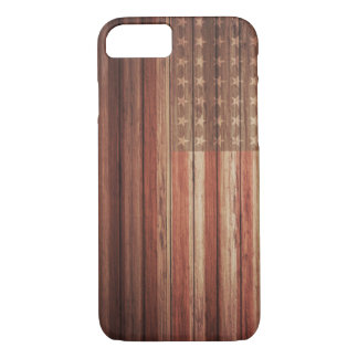 USA FLAG OLD WOOD iPhone 8/7 CASE