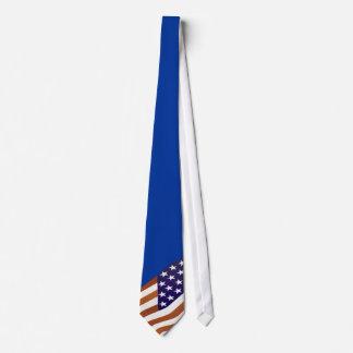 USA flag on blue - Tie