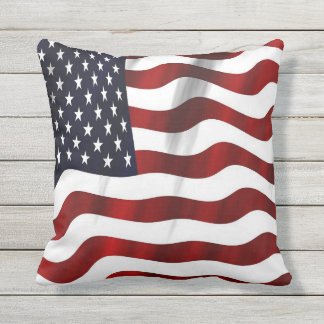USA Flag Outdoor Cushion