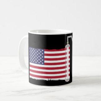 USA Flag Paint Roller Coffee Mug