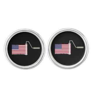 USA Flag Paint Roller Cufflinks