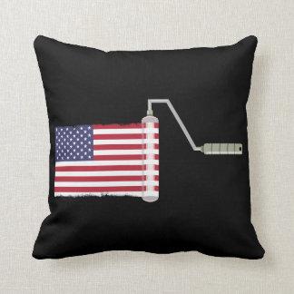 USA Flag Paint Roller Cushion