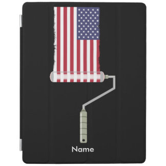 USA Flag Paint Roller iPad Cover
