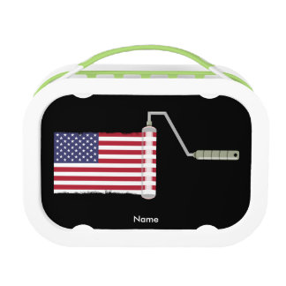 USA Flag Paint Roller Lunchboxes