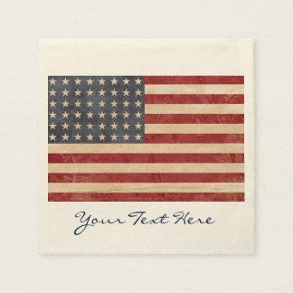 USA Flag Party Napkins Disposable Serviette