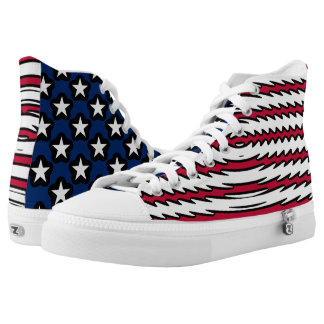 USA Flag Patriotic American High Tops