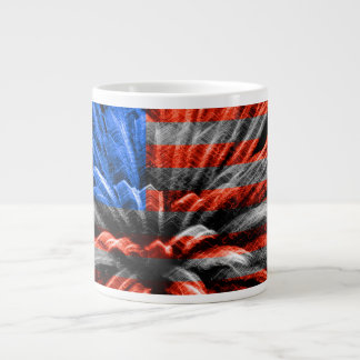 USA Flag Patriotic Fireworks Large Coffee Mug