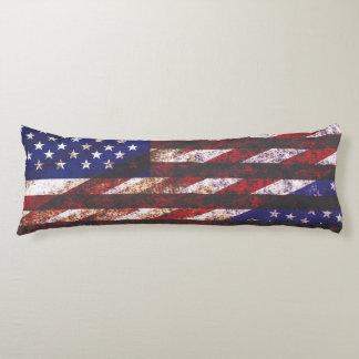Usa flag patriotic flag collage body cushion