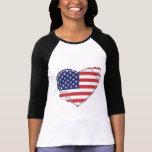 USA Flag Patriotic Heart T Shirt
