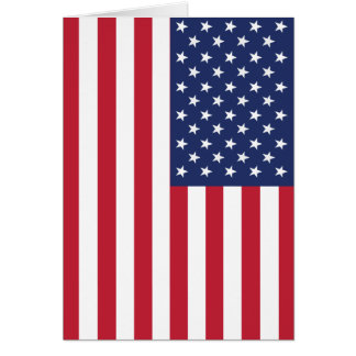 USA Flag Pattern. Perfect Patriotic Gift. American Cards