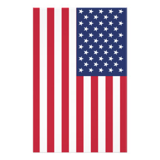 USA Flag Pattern. Perfect Patriotic Gift. American Customised Stationery