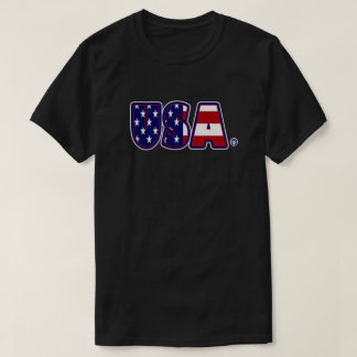 USA Flag Patterned Awesome T-Shirt