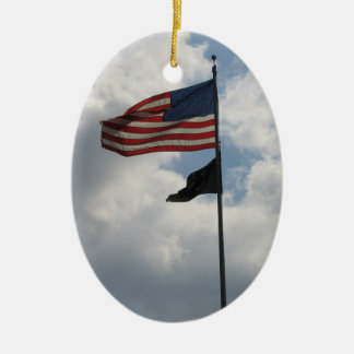 USA Flag Photo Ornament