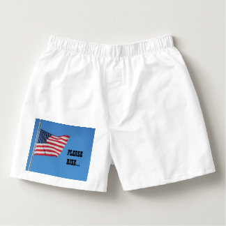 USA Flag Please Rise for the Anthem Boxers
