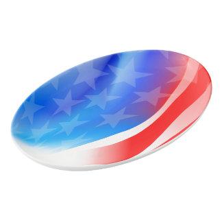 USA flag Porcelain Serving Platter