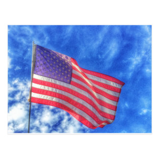 USA Flag Postcard