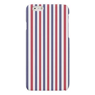 USA Flag Red and Flag Blue Narrow Thin Stripes