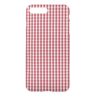 USA Flag Red and White Gingham Checked iPhone 7 Plus Case