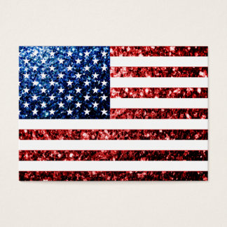 USA flag red & blue sparkles glitters