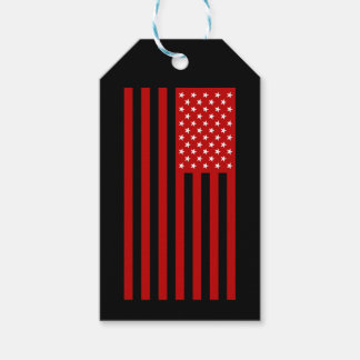 USA Flag - Red Stencil Gift Tags