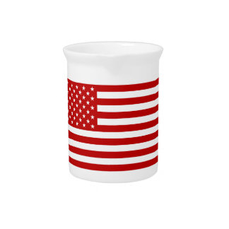 USA Flag - Red Stencil Pitcher