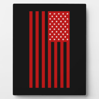 USA Flag - Red Stencil Plaque