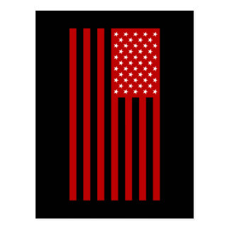 USA Flag - Red Stencil Postcard