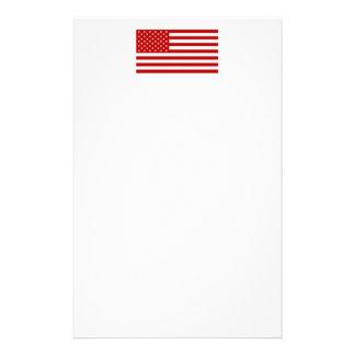 USA Flag - Red Stencil Stationery