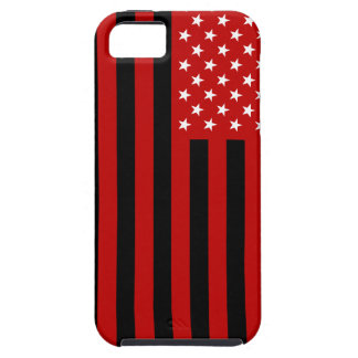 USA Flag - Red Stencil Tough iPhone 5 Case