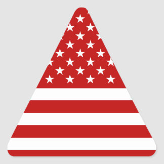 USA Flag - Red Stencil Triangle Sticker