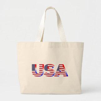 USA Flag Red White And Blue Jumbo Tote Bag