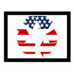 USA Flag - Red White & Blue Recycle Symbol