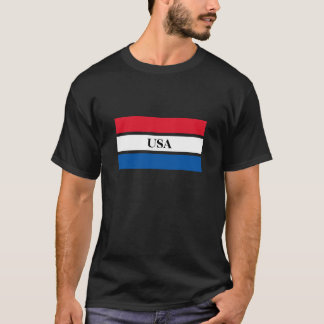 USA Flag Red, White, Blue Stripes T-Shirt