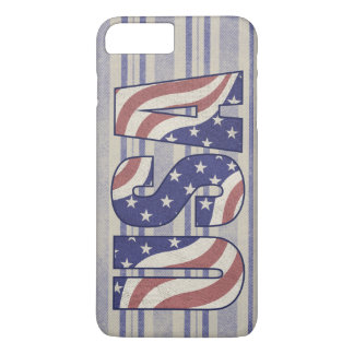 USA flag rustic denim texture iPhone 7 Plus Case