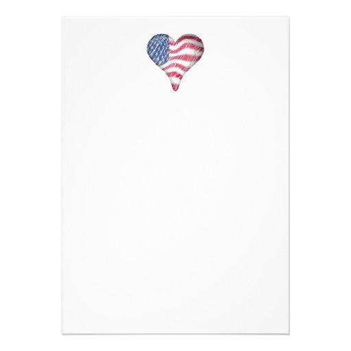 USA Flag Sketch Painting Blur Invite
