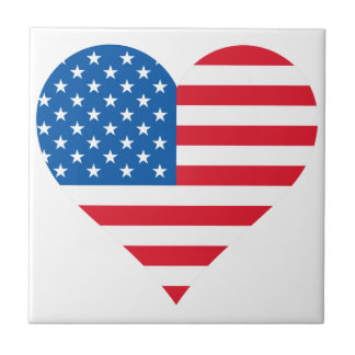 "Usa Flag Small (4.25"" x 4.25"") Ceramic Photo Tile"