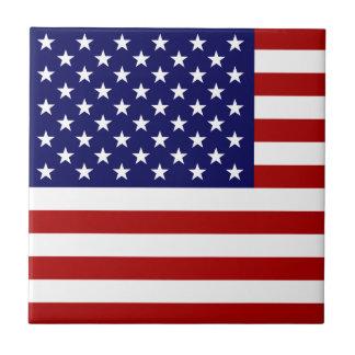 USA Flag Small Square Tile