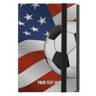 USA Flag & Soccer Ball iPad Mini Cover