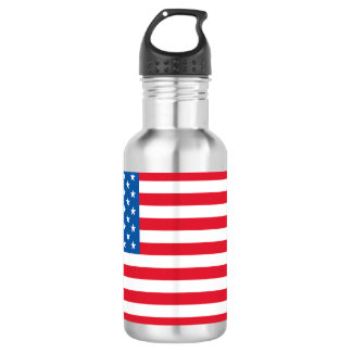 USA Flag stars and stripes 532 Ml Water Bottle