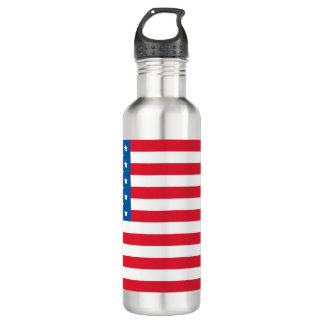 USA Flag stars and stripes 710 Ml Water Bottle