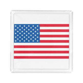 USA Flag stars and stripes Acrylic Tray