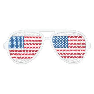 USA Flag stars and stripes Aviator Sunglasses