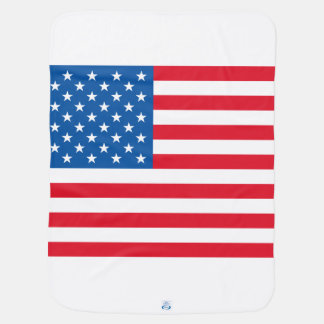 USA Flag stars and stripes Baby Blanket
