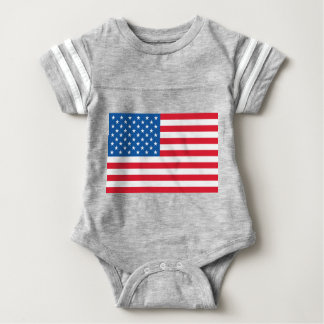 USA Flag stars and stripes Baby Bodysuit