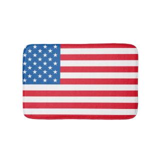 USA Flag stars and stripes Bath Mats