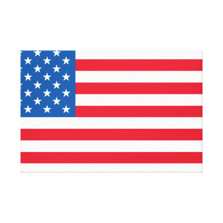 USA Flag stars and stripes Canvas Print