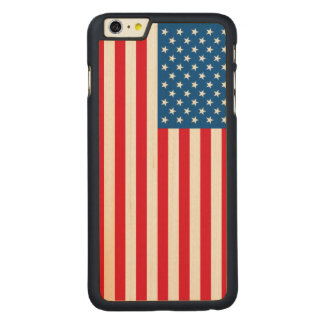 USA Flag stars and stripes Carved Maple iPhone 6 Plus Case
