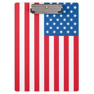 USA Flag stars and stripes Clipboard