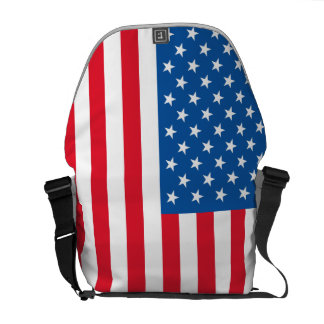 USA Flag stars and stripes Commuter Bag